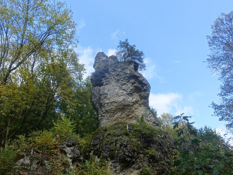 Eine imposante Felsformation