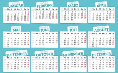 Termine 2021: Neues Jahr, neue Bewegungsangebote!