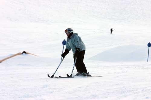 Skifahren mit Krückenski